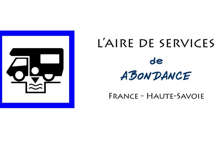 aire services camping cars Abondance Haute Savoie