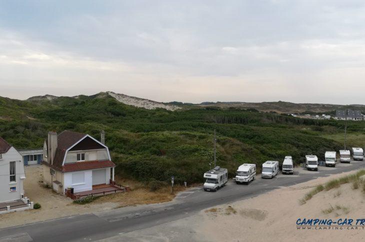 Stelle-Plage aire de services camping car de Stella Plage dans le Pas-de-Calais