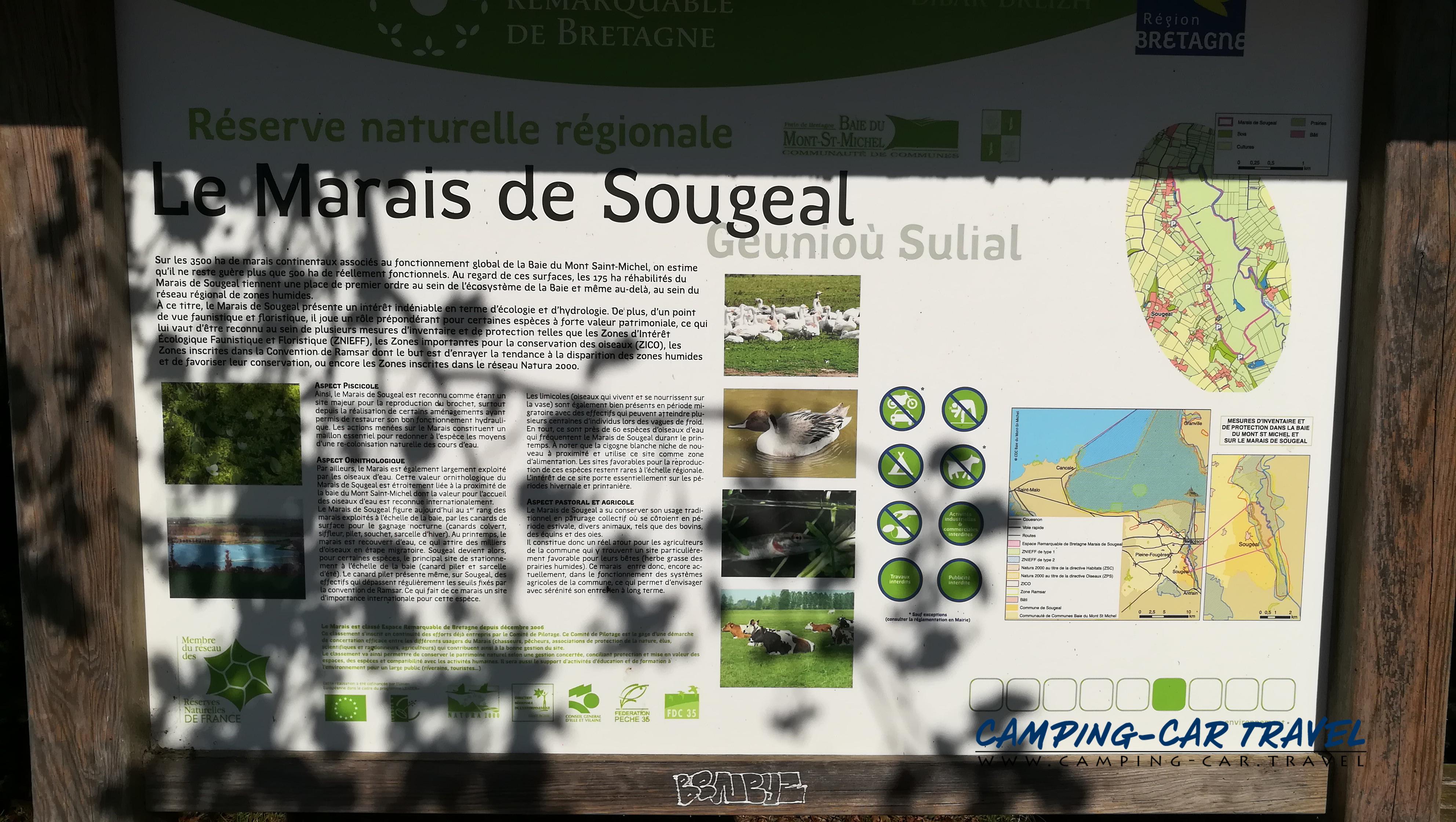 aire services camping car Sougéal Ile-et-Vilaine Bretagne