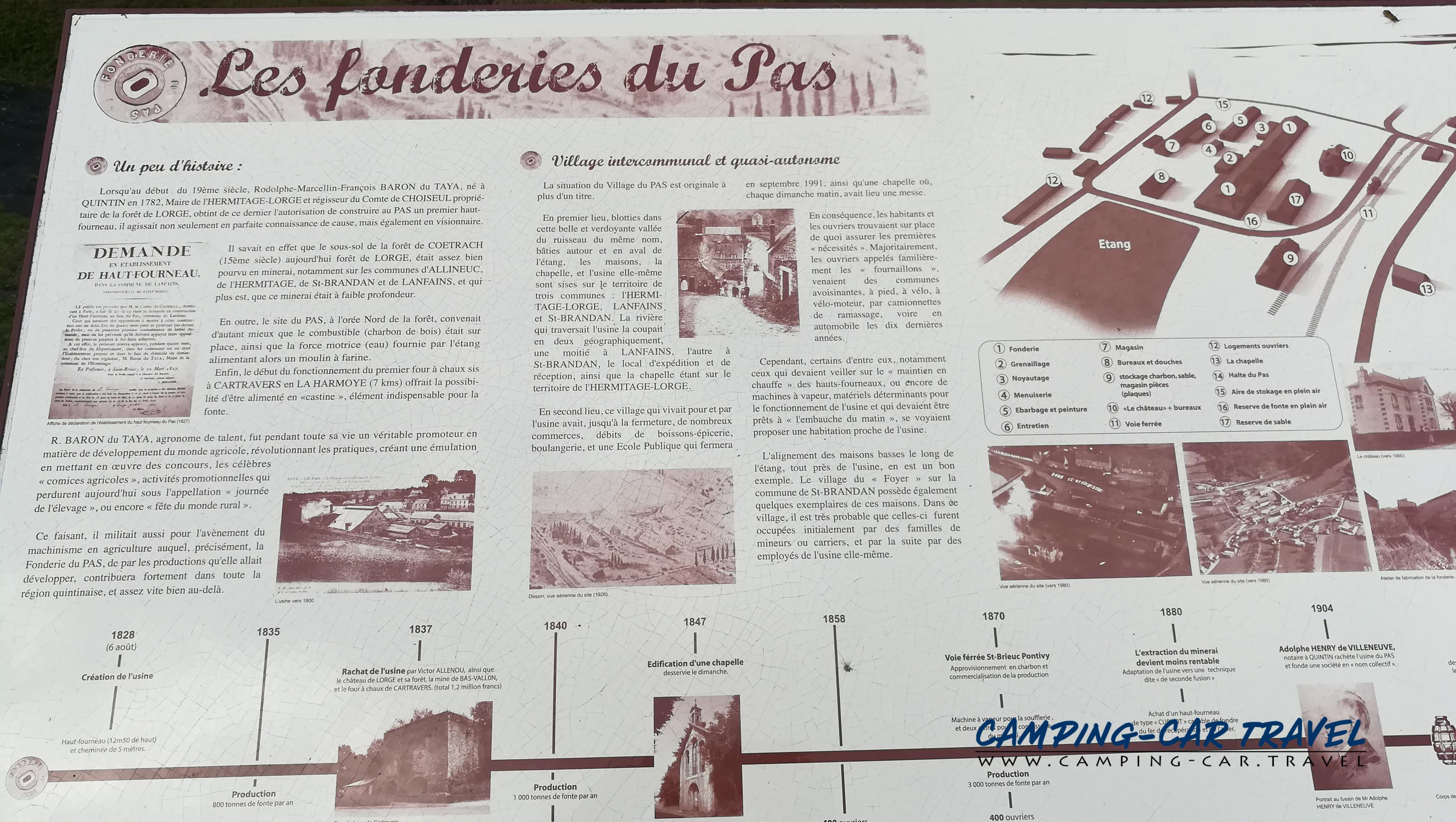 aire services camping car Le Pas Lanfains Côtes-d'Armor Bretagne