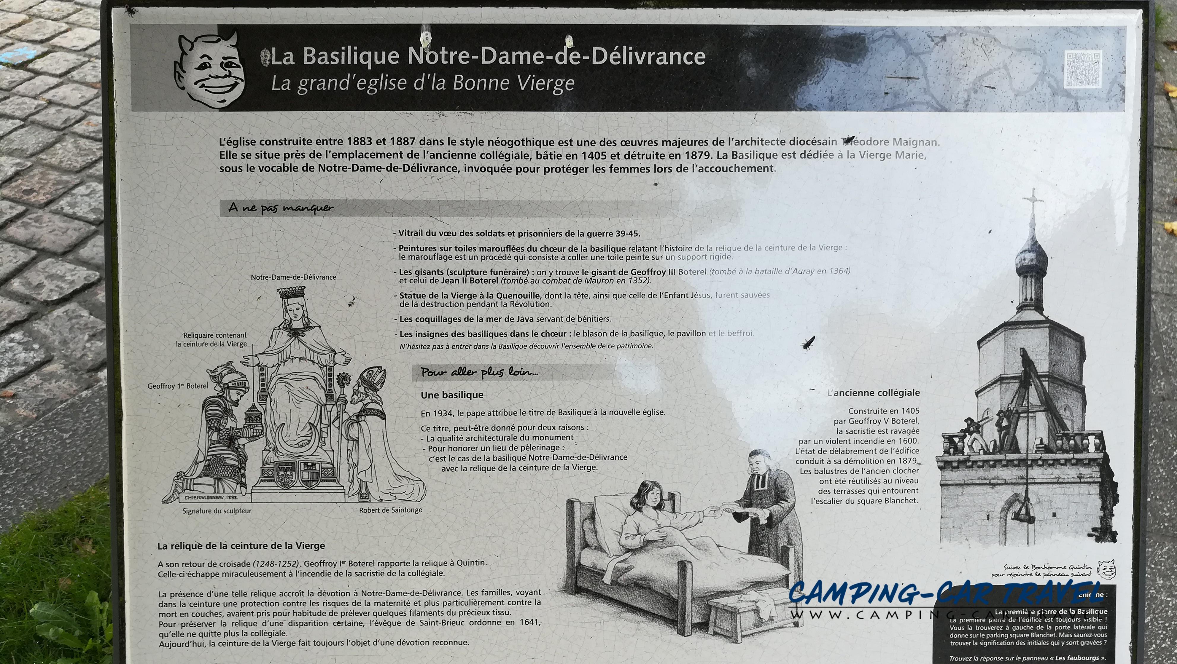aire services camping car Quintin Côte-d'Armor Bretagne