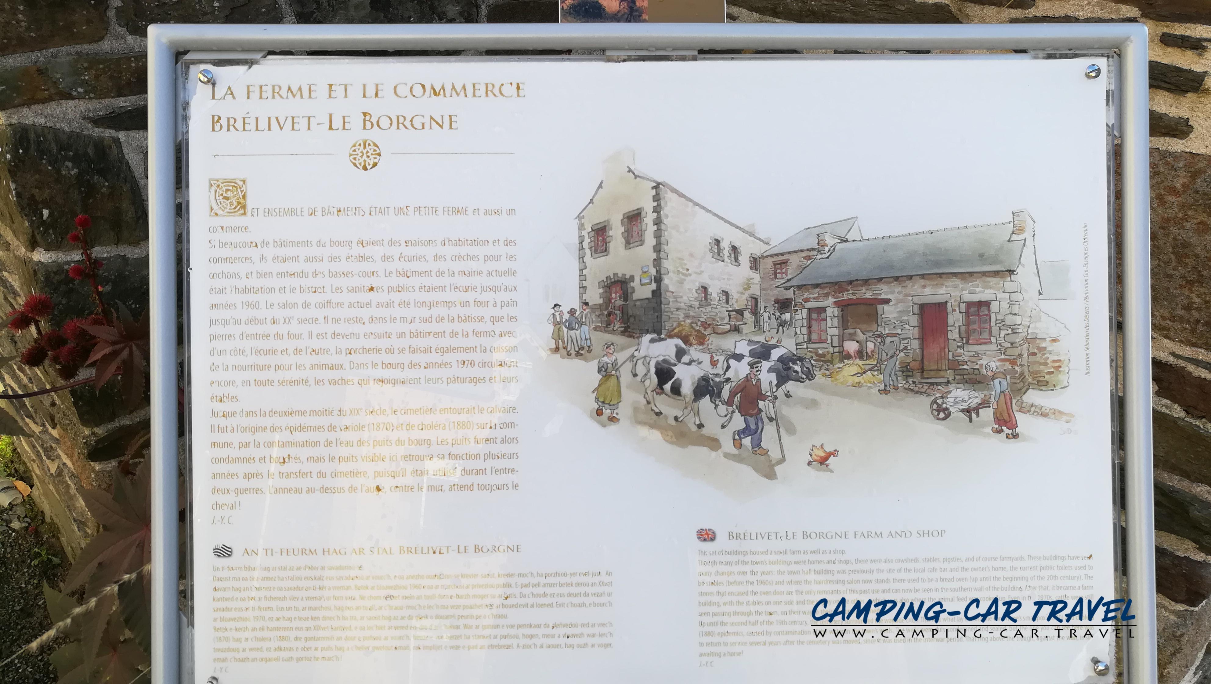 aire services camping car Lopérec Finistère Bretagne