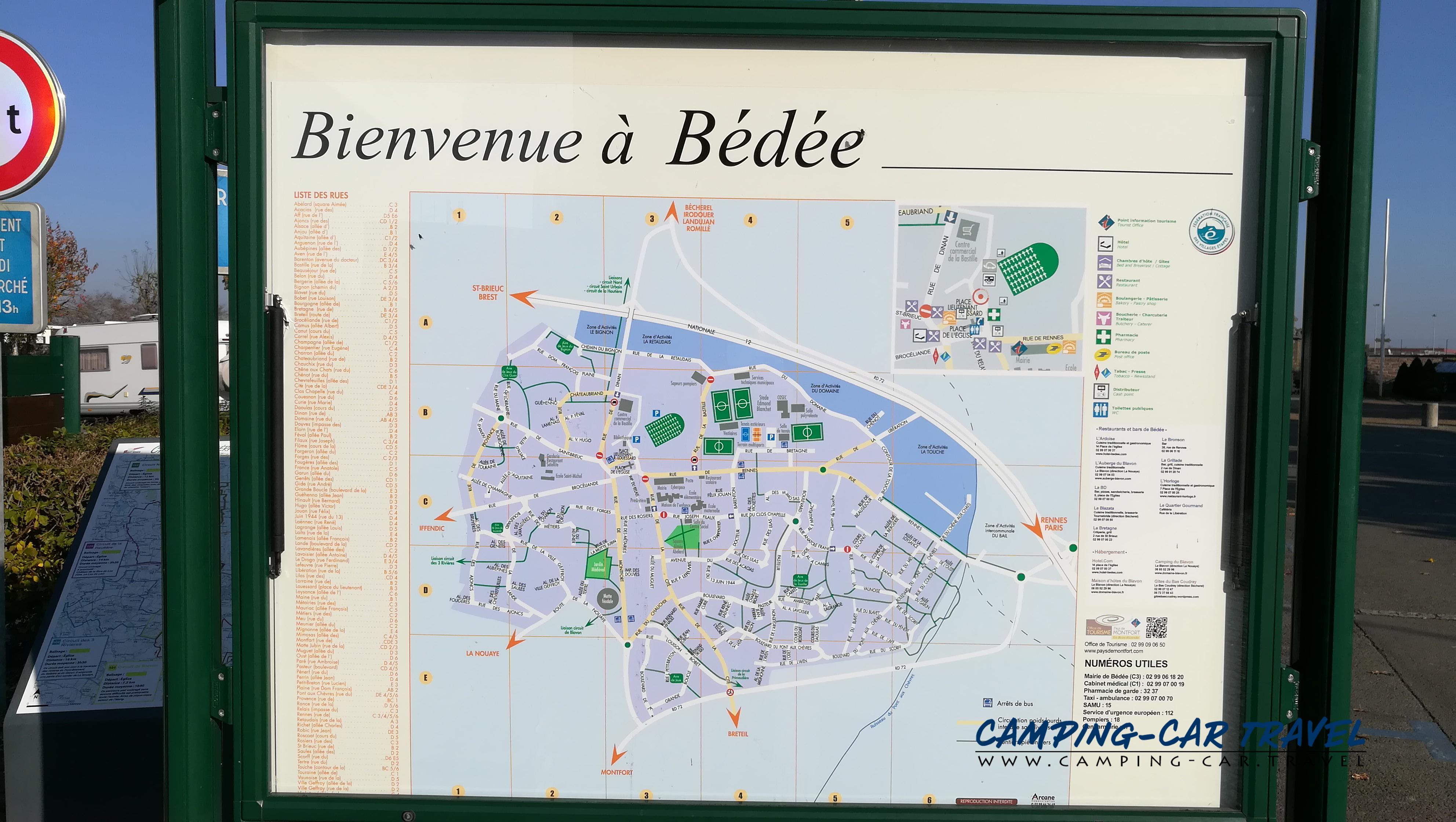 aire services camping car Bédée Ille-et-Vilaine Bretagne