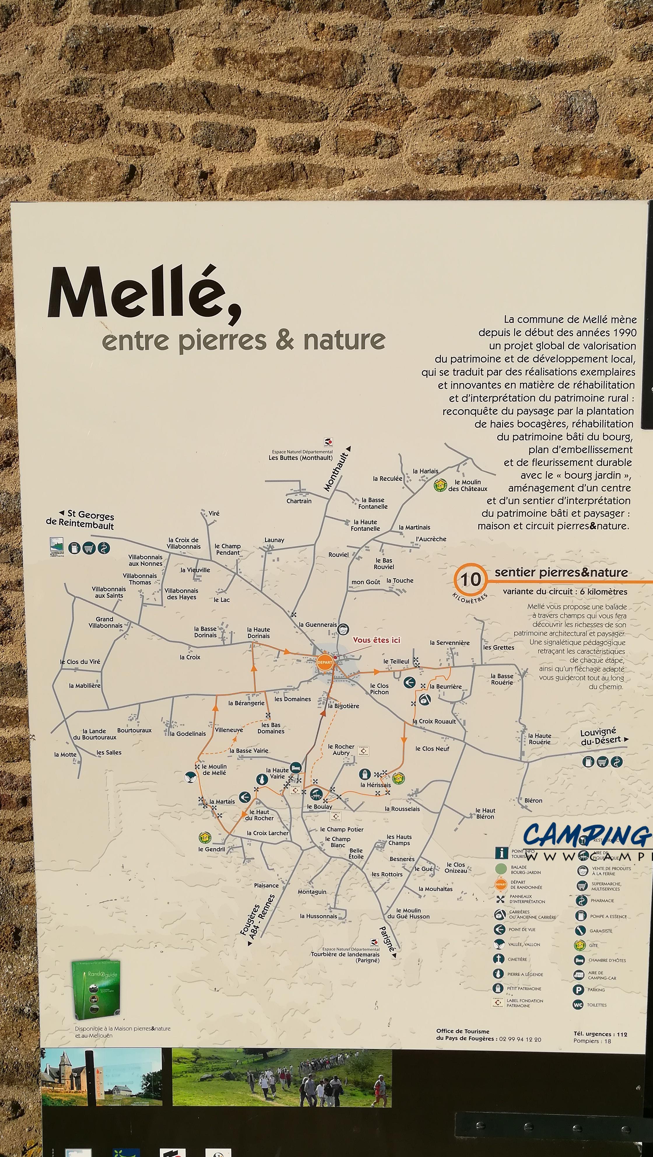 aire services camping car Mellé Ille-et-Vilaine Bretagne