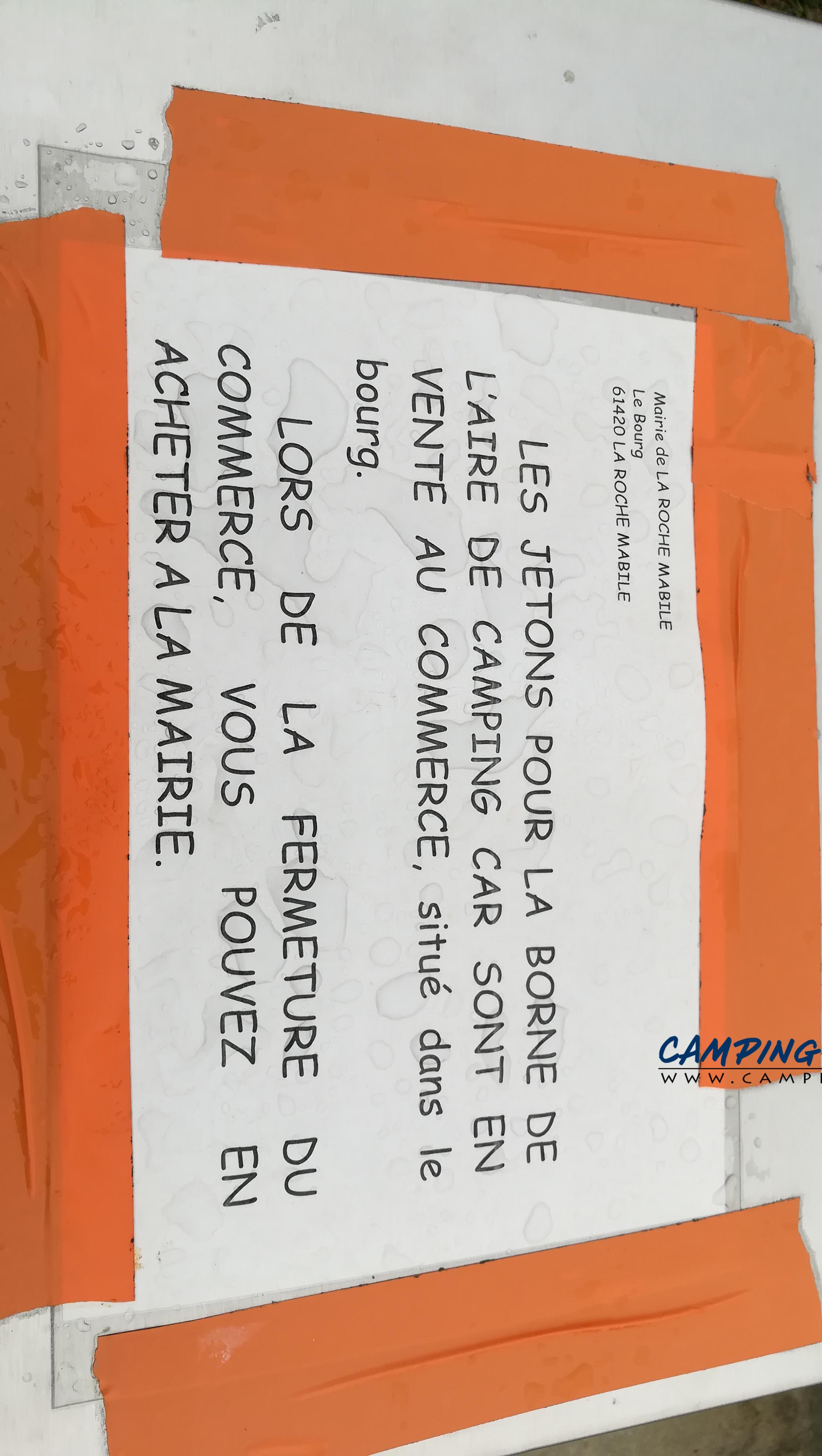 aire services camping car La Roche-Mabile Orne Normandie