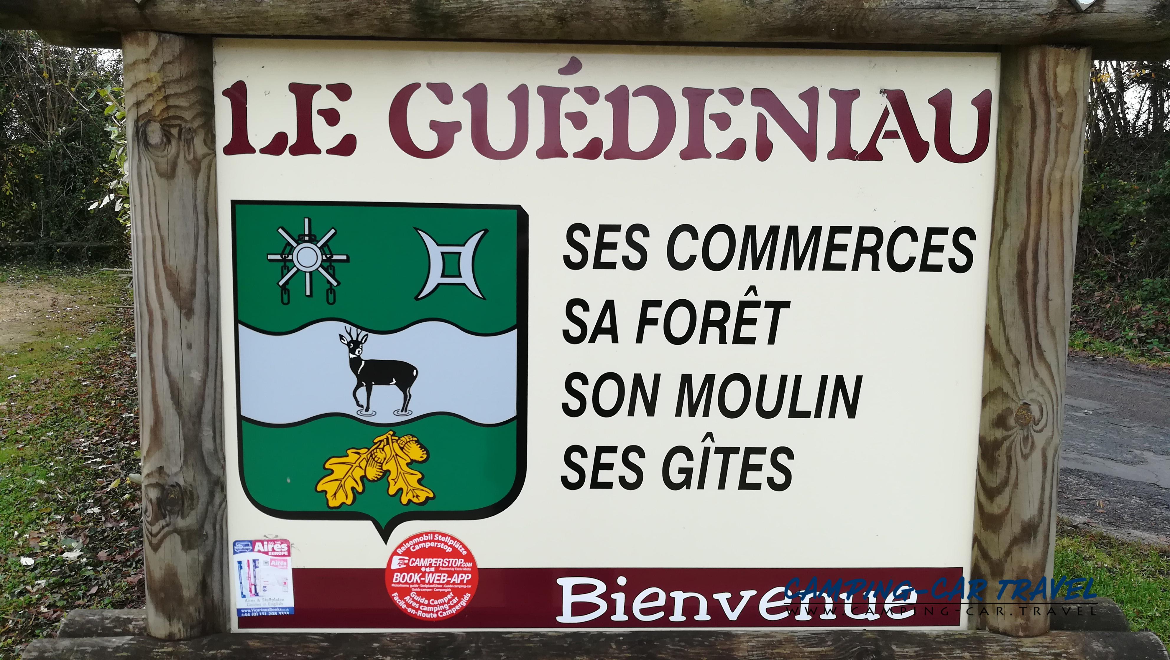 aire services camping car Le Guédéniau Maine-et-Loire Pays-de-la-Loire
