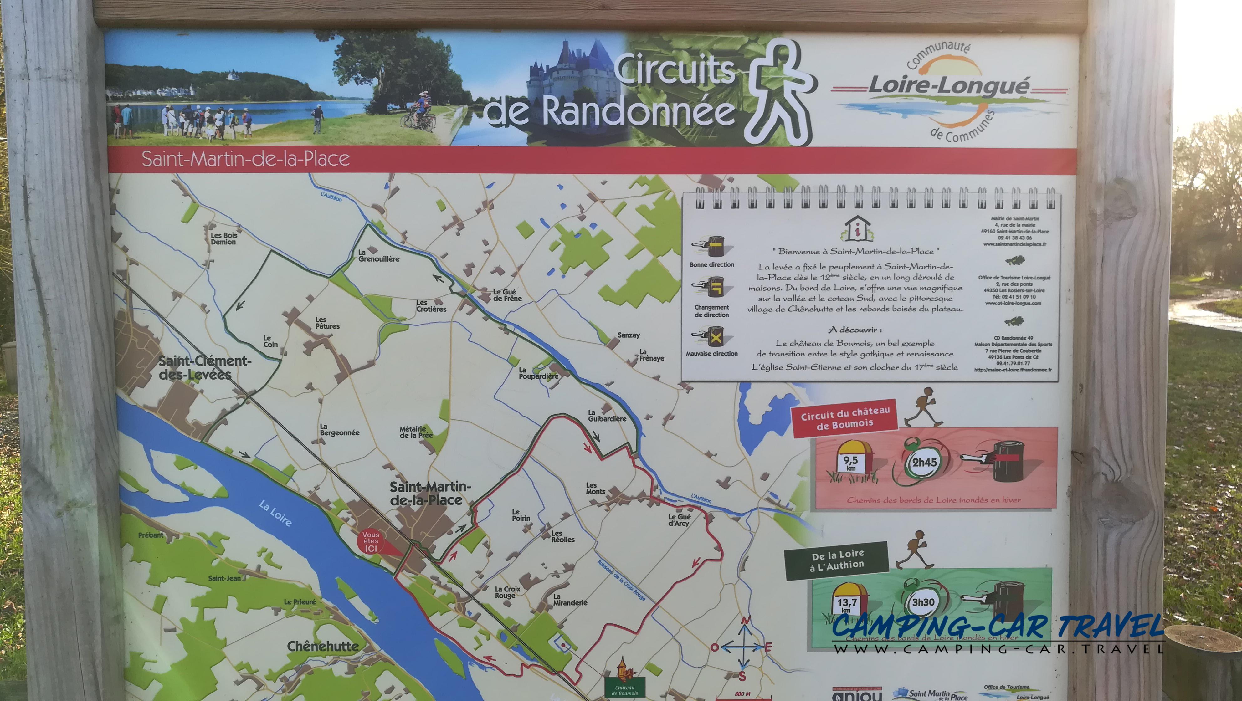 stationnement gratuit camping car Saint-Martin-de-la-Place Maine-et-Loire Pays-de-la-Loire