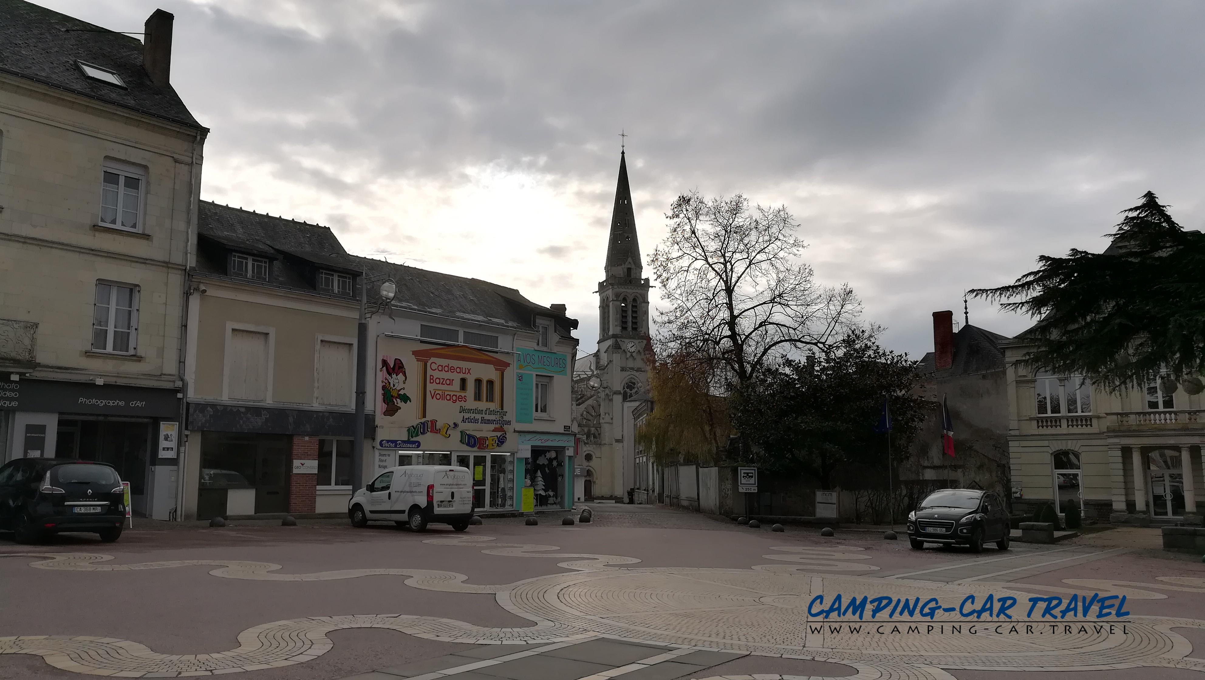 aire services camping car Vihiers Maine-et-Loire Pays-de-la-Loire