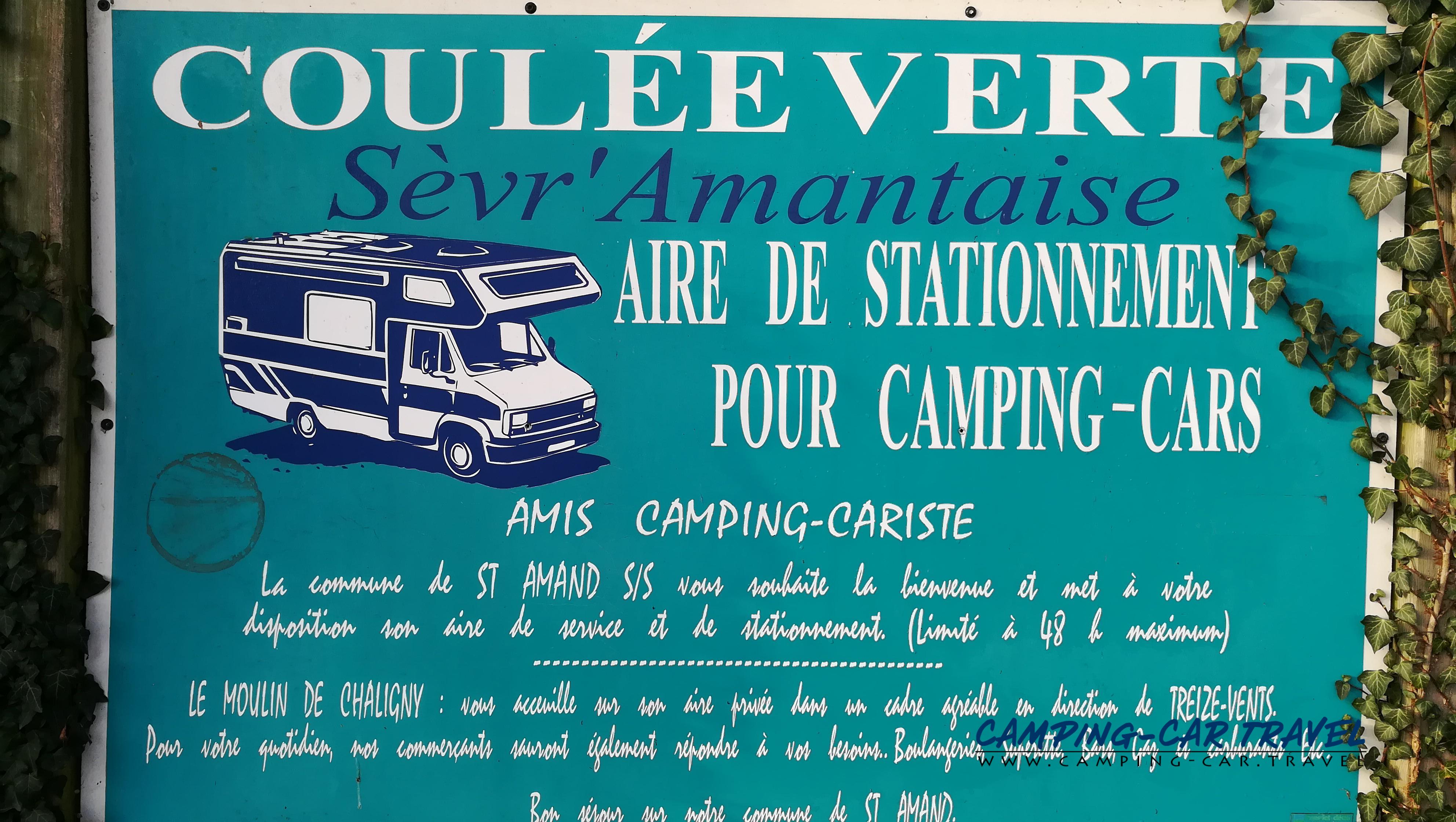 aire services camping car Saint-Amand-sur-Sèvre Deux-Sèvres Poitou-Charente
