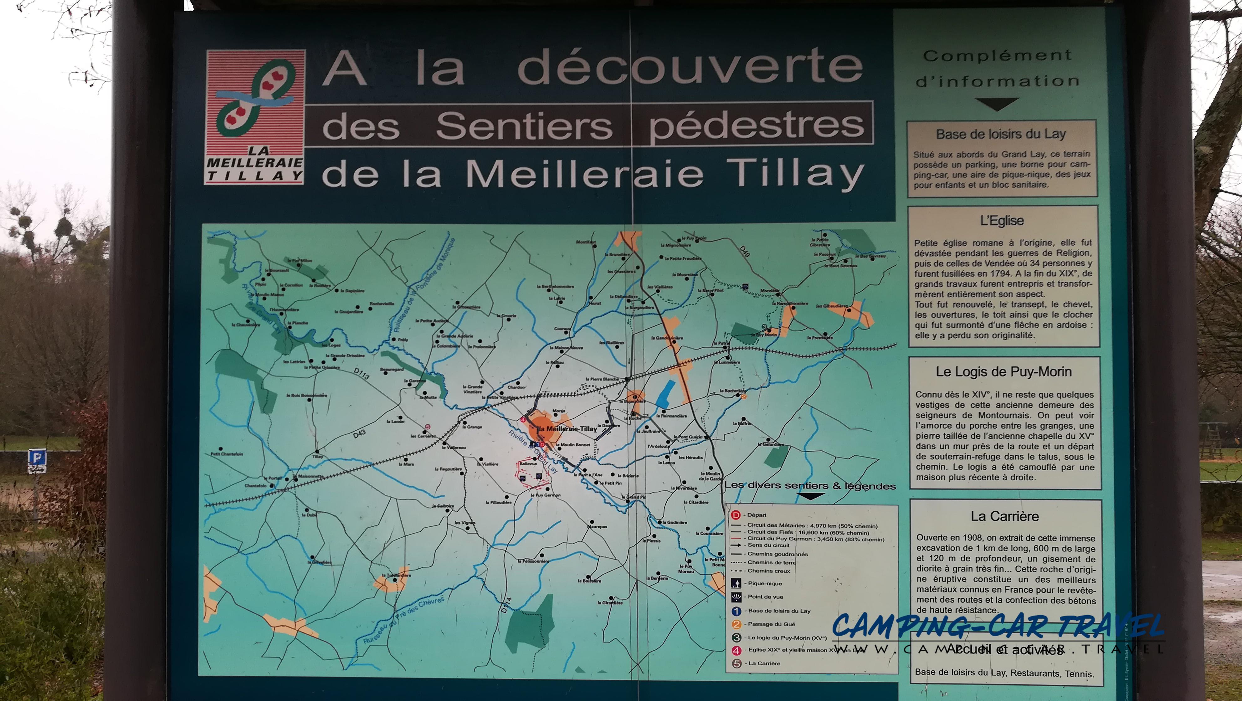 aire services camping car La Meilleraie-Tillay Vendée Pays-de-la-Loire