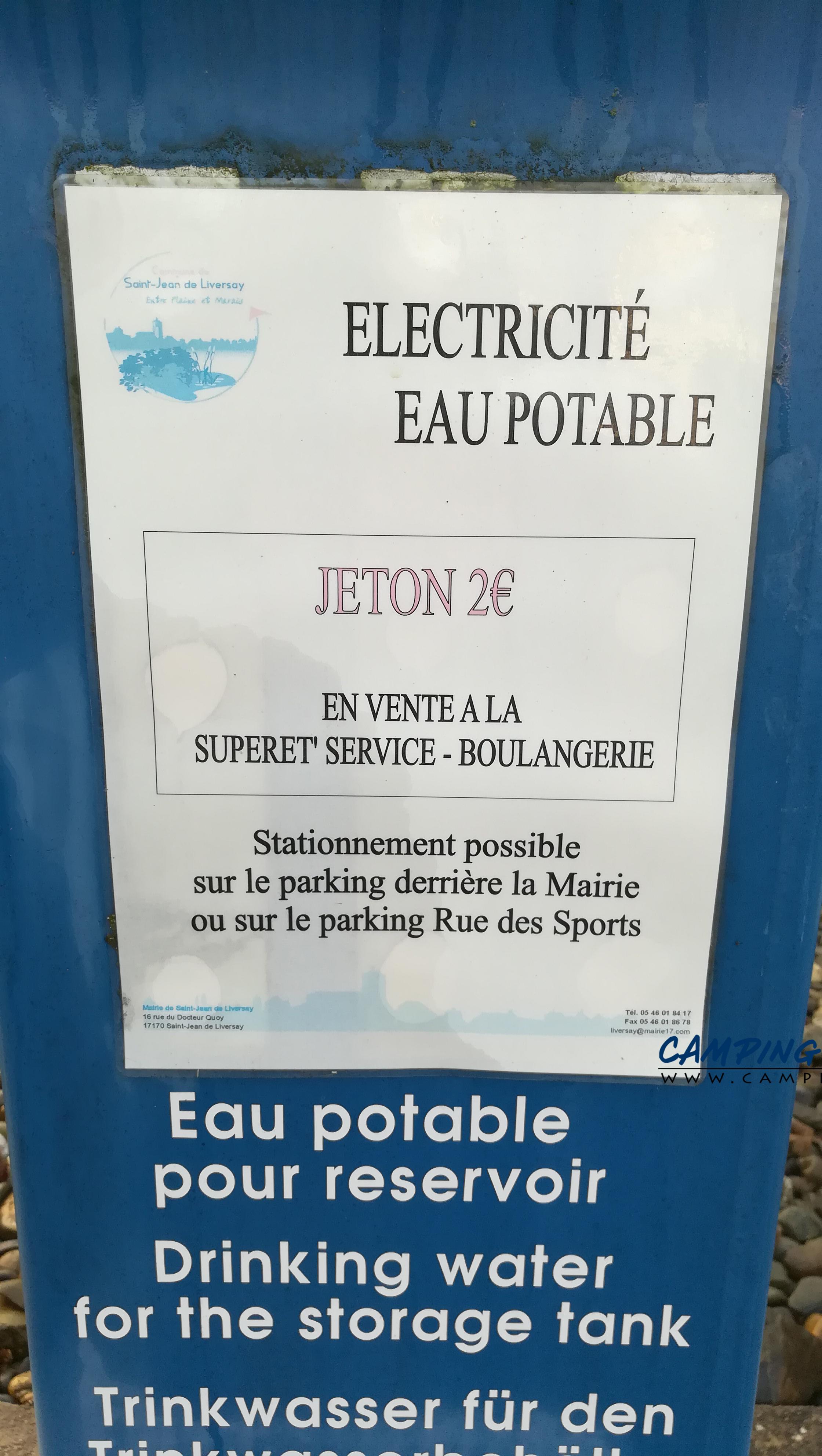 aire services camping car Saint-Jean-de-Liversay en Charente-Maritime Poitou-Charentes