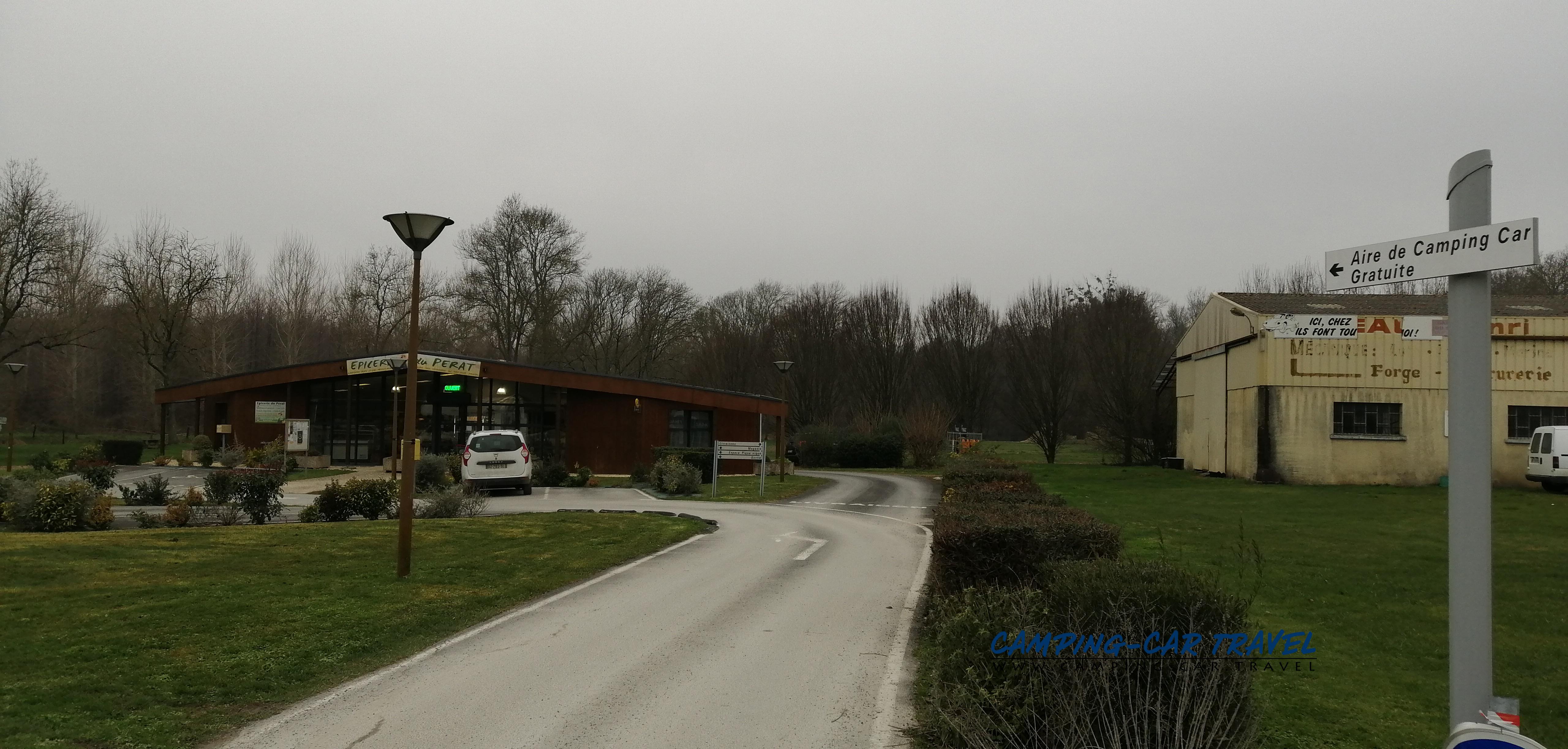 aire services camping car Saint-Dizant-du-Gua Charente-Maritime Poitou-Charentes