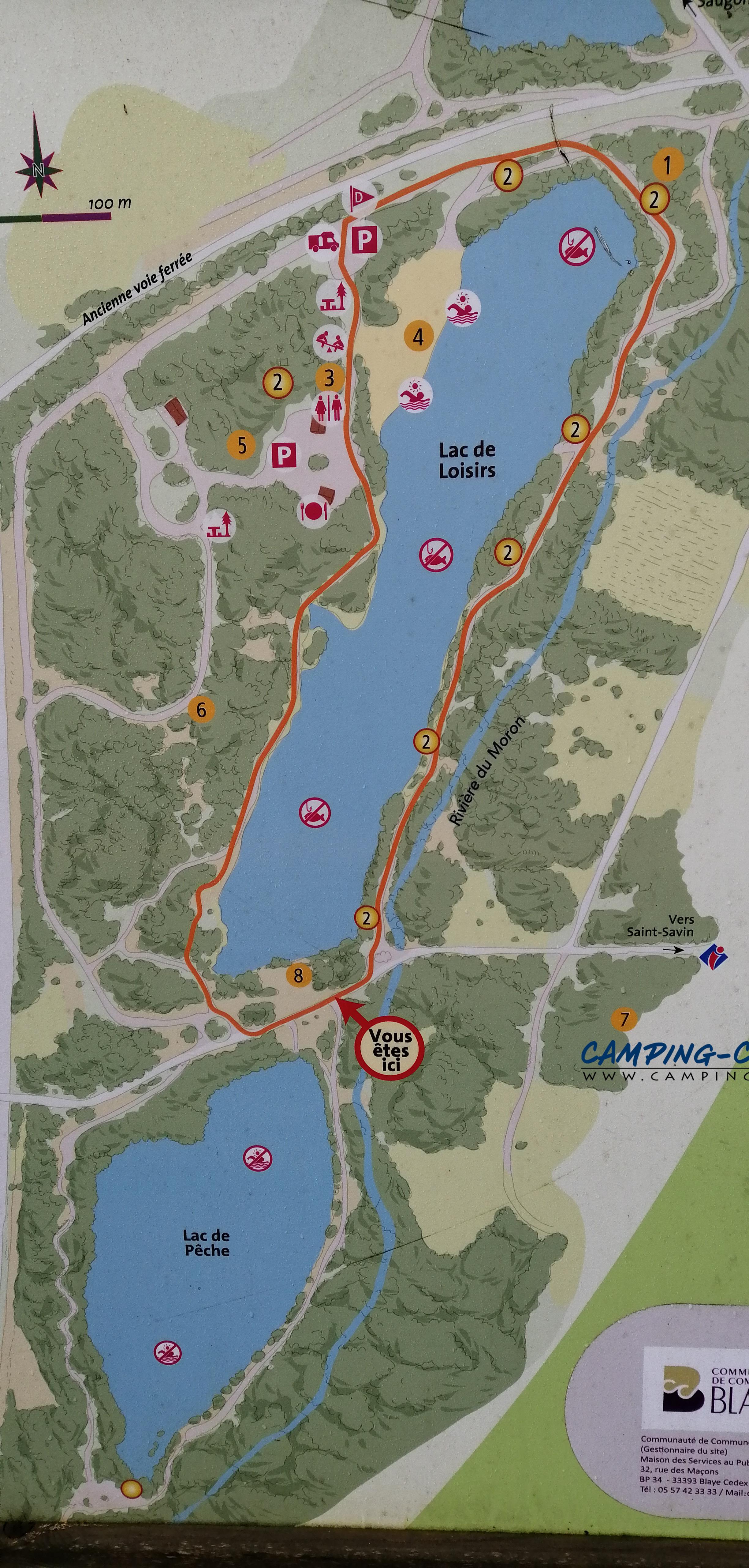 aire services camping car Saint-Cristoly-de-Blaye Gironde Lacs du Moulin Blanc