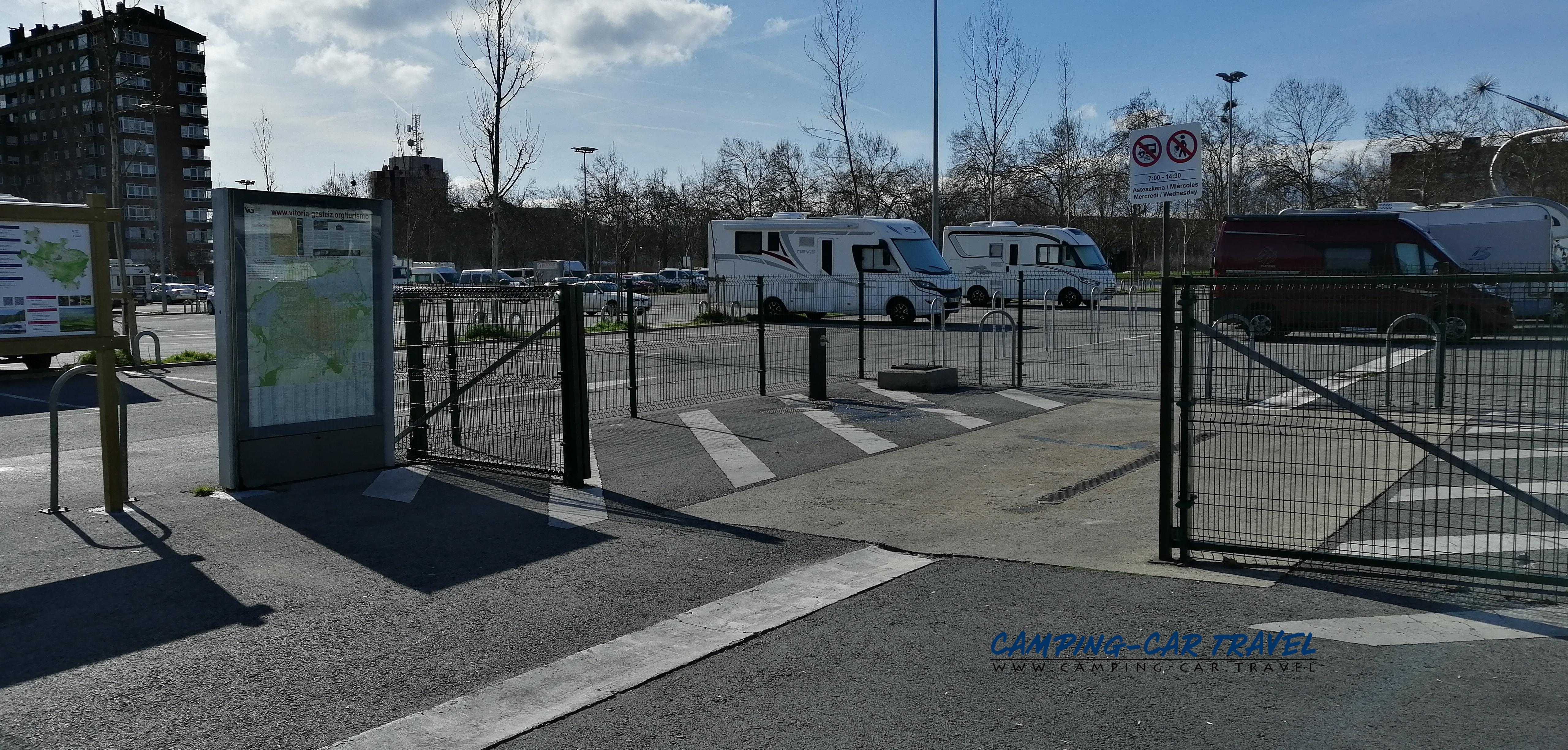 aire services camping car Vitoria Gasteiz Espagne Spain