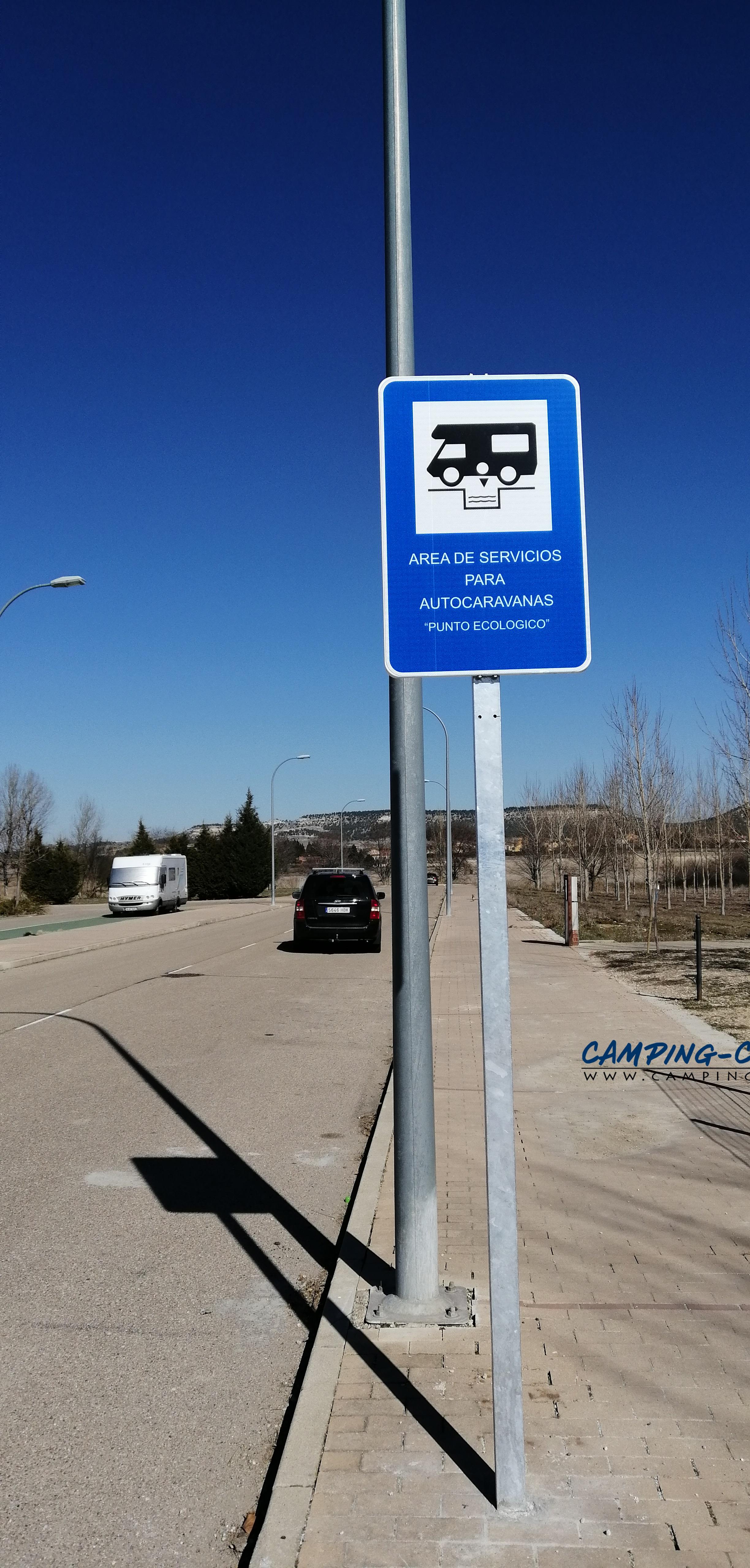 aire services camping car Renedo de Esgueva Espagne Spain