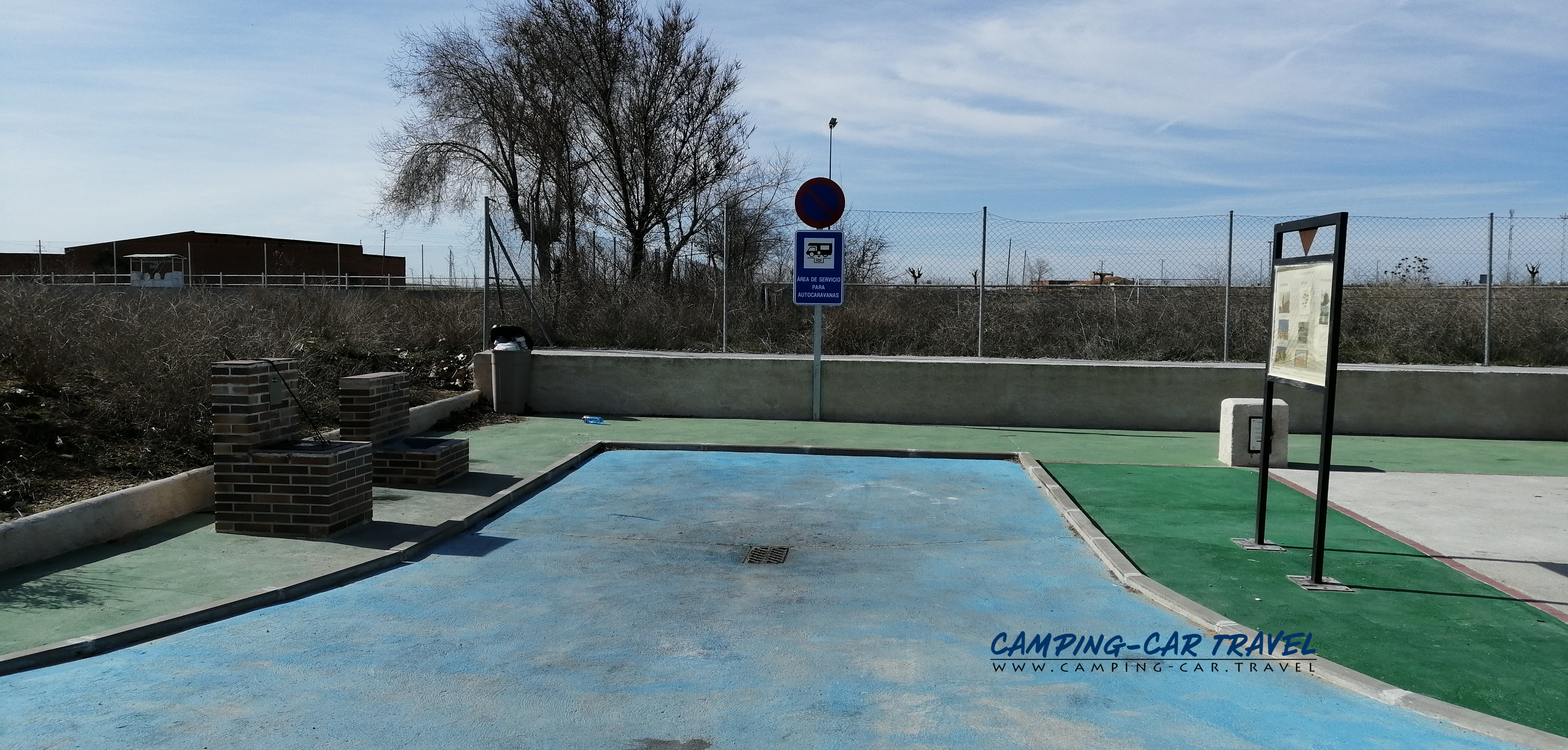 aire services camping car Alaejos Espagne Spain