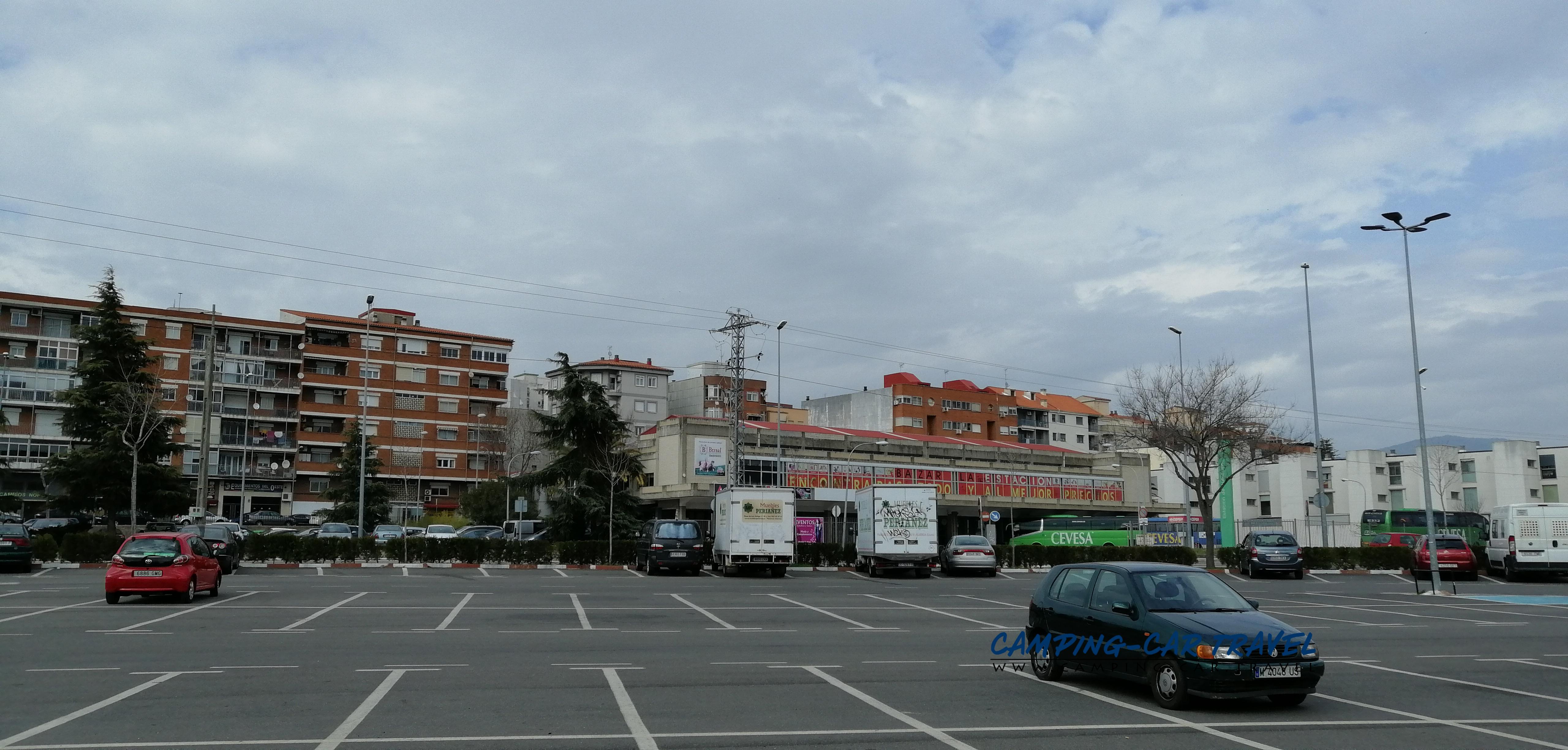 aire services camping car Plasencia Espagne Spain