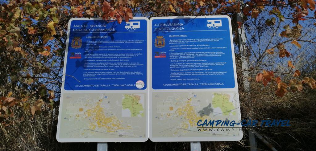 aire services camping cars tafalla espagne navarre