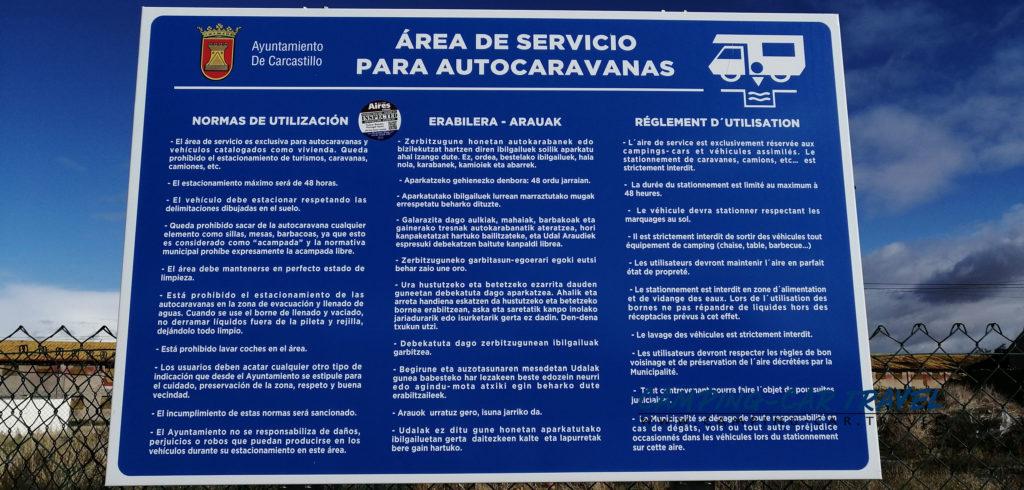 aire services camping car carcastillo espagne navarre