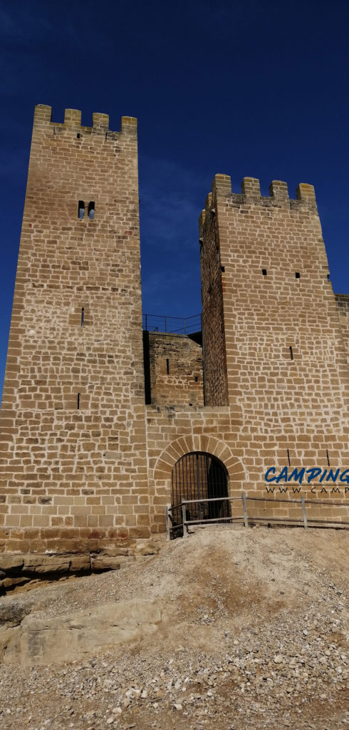 stationnement gratuit camping car Sadaba Espagne Aragon