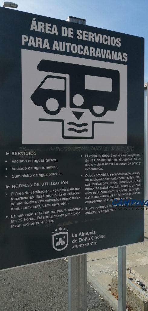 aire de services camping car La Almunia de Doña Godina aragon espagne