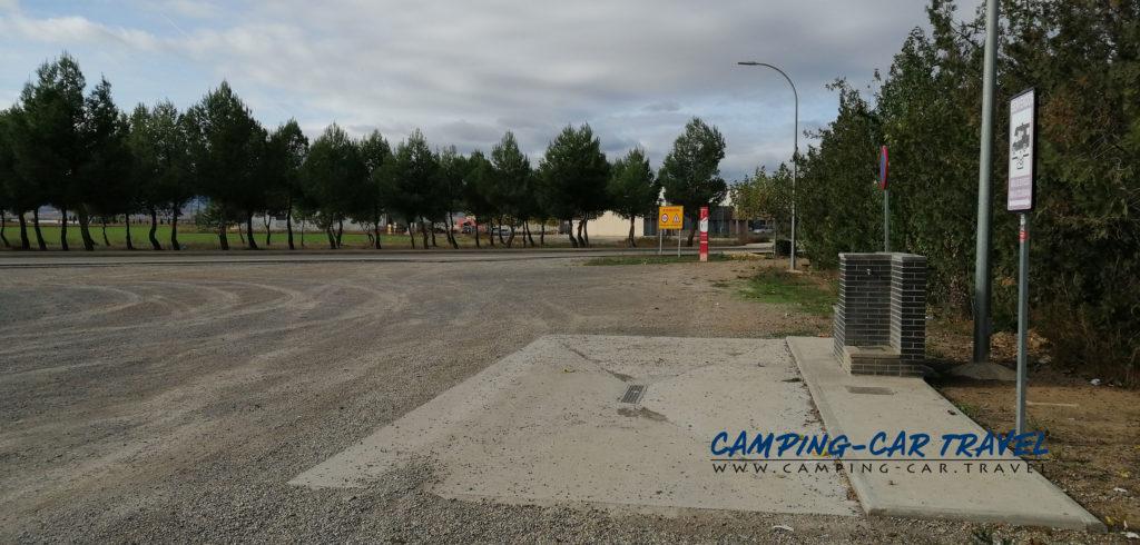 aire de services camping cars Alfamén Aragon Espagne