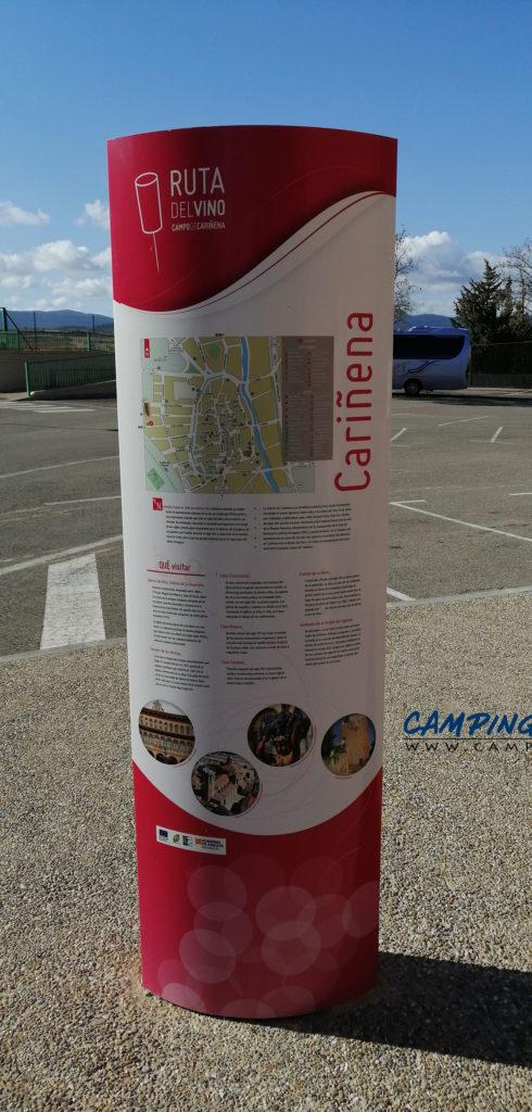 aire de services pour camping car de Cariñena en Espagne Aragon
