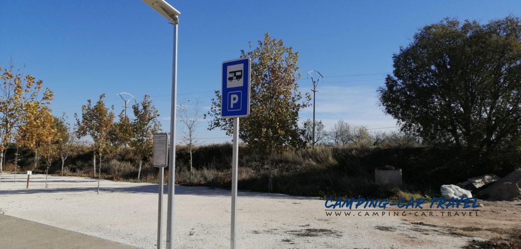 aire de services camping car Belchite Aragon Espagne